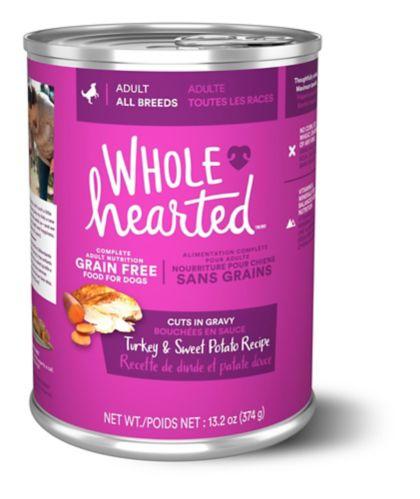WholeHearted Grain Free Adult Wet Dog, Turkey & Sweet Potato, 375-g