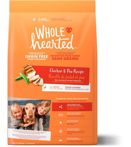 WholeHearted Grain-Free All Life Stages Dry Dog Food, Chicken & Pea Product image