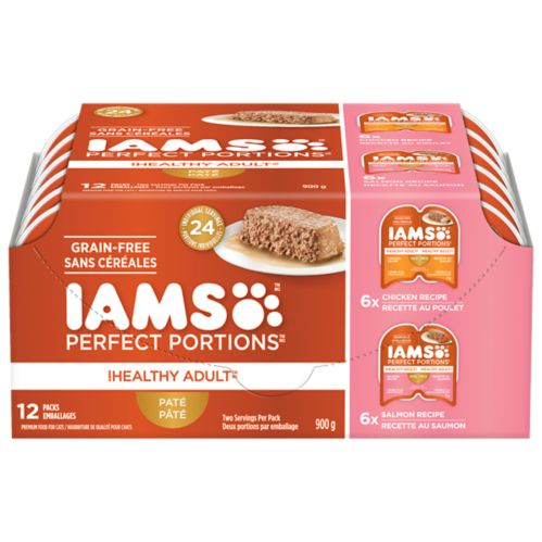 Iams Perfect Portions Chicken & Salmon Cat Food, 12-pk