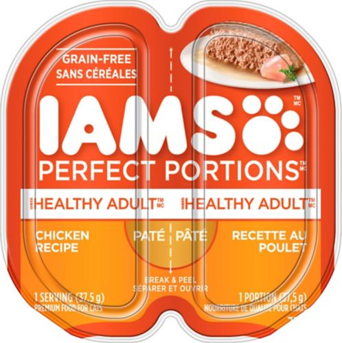 Iams Perfect Portions Chicken Pate Cat Food, 2.6-oz Product image
