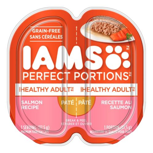 Iams Perfect Portions Salmon Pate Cat Food, 2.6-oz