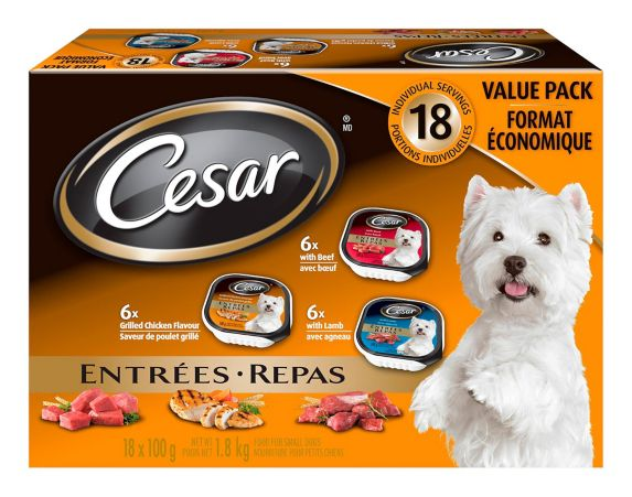 Cesar Wet Grilled Meat Dog Food Multi-Pack Product image