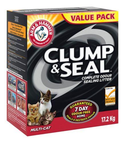 Arm & Hammer Clump & SealMulti-Cat Cat Litter, 17.2-kg