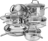 Cuisinart Clad Tri-Ply Stainlless Steel Cookware Set, 12-pc | Cuisinart