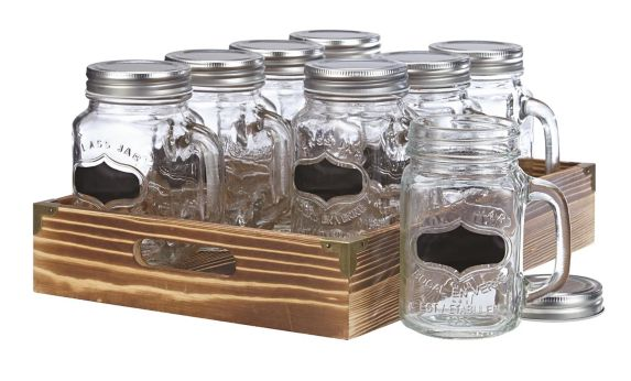 Mason Jar Set with Tray, 8-pc Product image