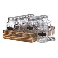 Mason Jar Set with Tray, 8-pc