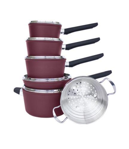 Batterie de cuisine PADERNO Classique, antiadhésive, 11 pièces Image de l'article