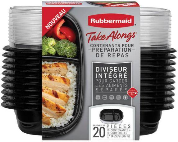 Contenants Rubbermaid Take Alongs pour repas, paq. 20 Image de l'article