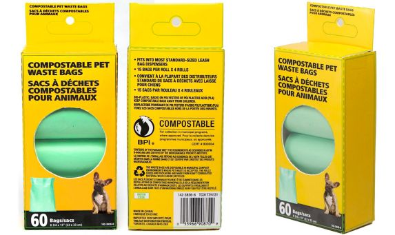Compostable Dog Waste Bags, 60-ct Product image