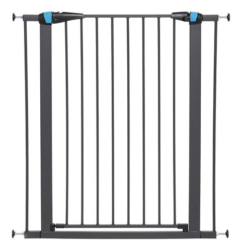 MidWest Graphite Steel Pet Gate with Glow Stripe, 39-in