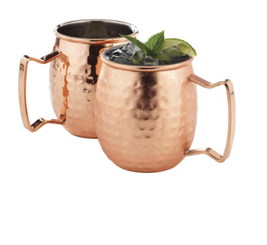 Moscow Mule Copper Plated Stainless Steel Mug Set, 2-pc Product image