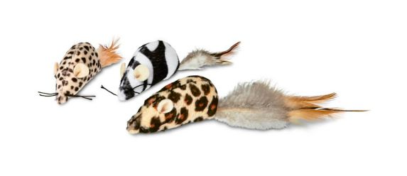 Petco Safari Mice Cat Toy with Catninp, 3-pk