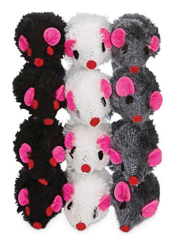Petco Fuzzy Mice Cat Toy with Catnip, 12-pk