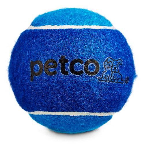 Petco Tennis Ball Dog Toy, Blue, 2.5-in Product image