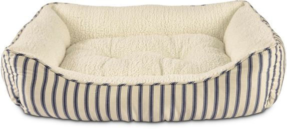 Petco Harmony Striped Nester Dog Bed, Blue, 32-in x 24-in Product image