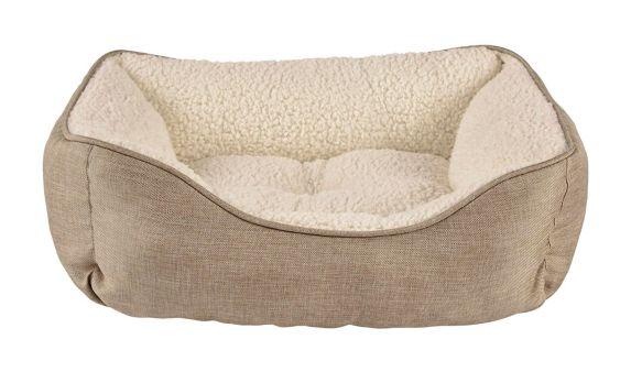Petco Harmony Nester Dog Bed, Khaki, 20-in x 17-in