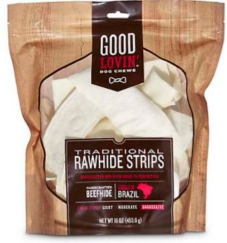 Petco Plain Rawhide Strip Dog Chews, 16-oz Product image