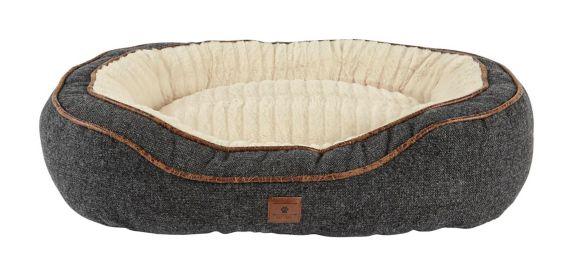 Petco Harmony Cuddler Memory Foam Dog Bed, Grey, 24-in x 18-in