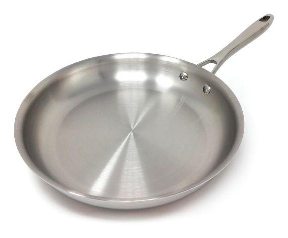 Poêle à frire PADERNO, revêtement en acier inoxydable, 28 cm