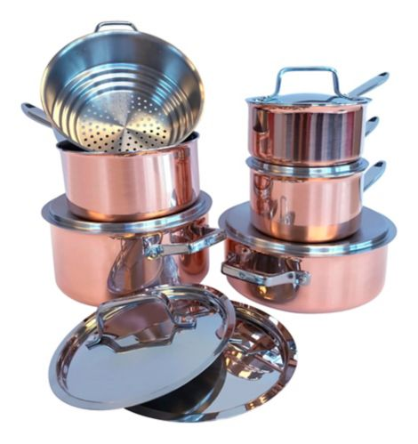PADERNO Canadian Copper Cookware Set, 12-pc