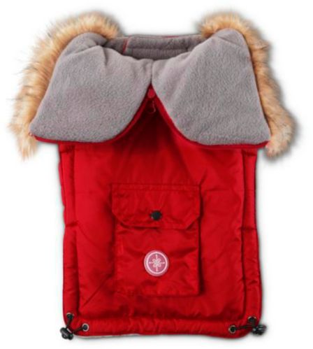 Petco Hood Dog Parka, Red Product image