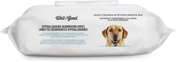 Well & Good Unscented Hypoallergenic Deodorizing Dog Wipes, 100-ct Product image