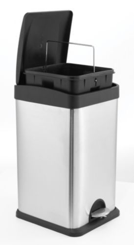Stainless Steel Square Step Trash Bin, 24-L Product image