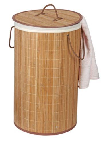 For Living Bamboo Laundry Hamper