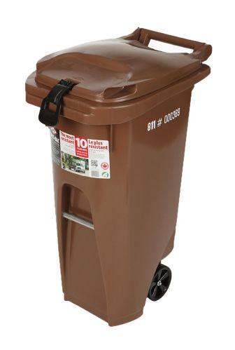 Wheeled Garbage Bin with Lock, 79.5-L Product image