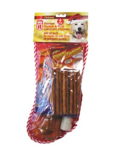 Christmas Dog Rawhide Treat Stocking Product image