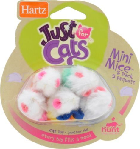 Just For Cats Mini Mice, 5-pk