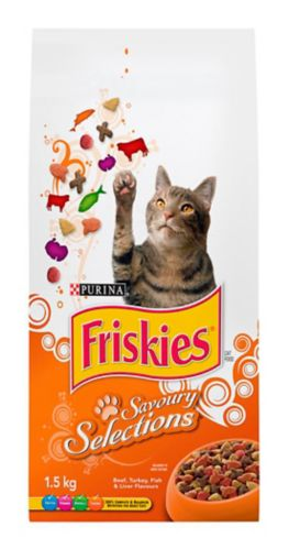Purina® Friskies® Savoury Selections Dry Cat Food, 1.5-kg