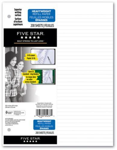 Five Star Heavyweight Refill Paper, 200-pk
