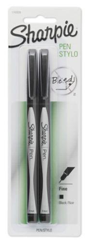 Stylos Sharpie à pointe fine, noir, paq. 2 Image de l'article