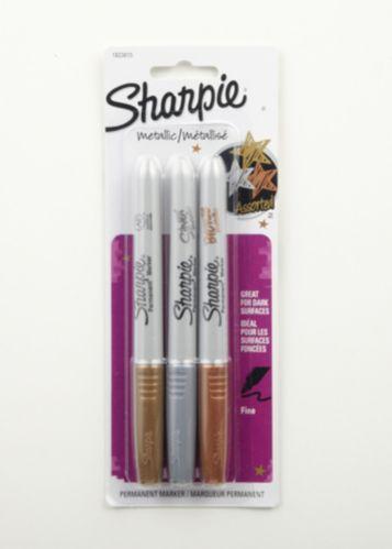 Marqueurs indélébiles Sharpie, métallique, fine, paq. 3 Image de l'article