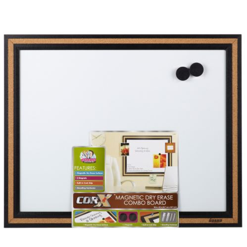 Magnetic Dry Erase Combo Board, 18 x 22-in