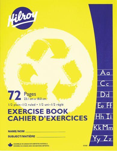 Cahier d'exercices à demi-page lignée Hilroy, jaune Image de l'article