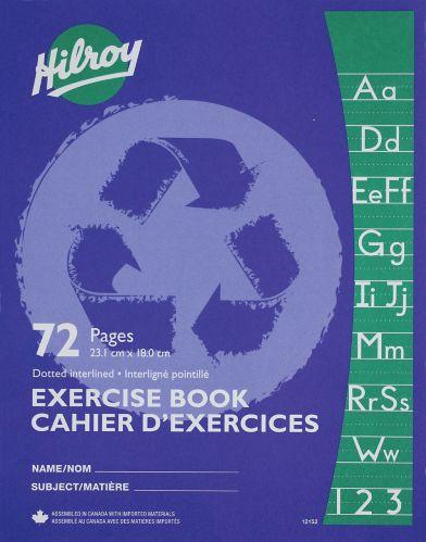 Cahier d'exercices ligné et pointillé Hilroy, bleu foncé Image de l'article