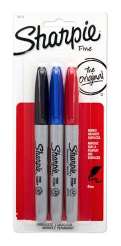 Marqueur Sharpie, couleurs variées, paq. 3 Image de l'article