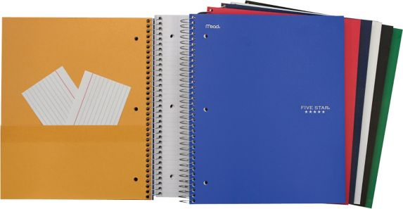 Five Star 3-Subject Notebook, 300-Pages