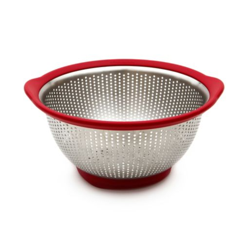 KitchenAid Stainless Steel Colander, Red, 3-qt Product image