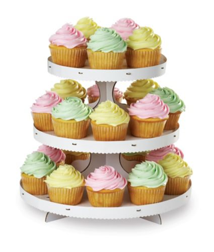 Wilton 3-Tier Cupcake & Treat Stand, White Product image