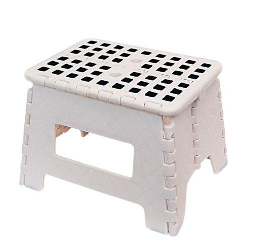Maison Kleen Folding Step Stool, White Product image