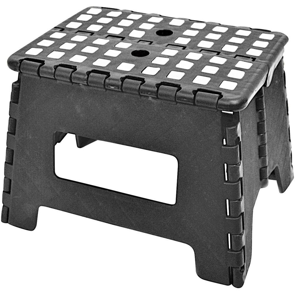 Maison Kleen Folding Step Stool, Black