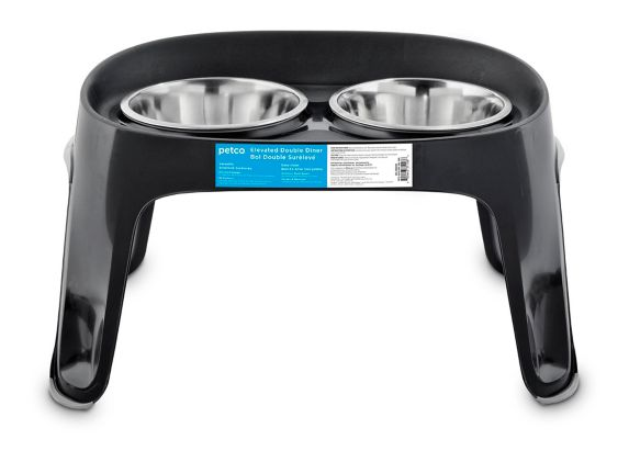 Petco High-Rise Double Diner Dog Bowls