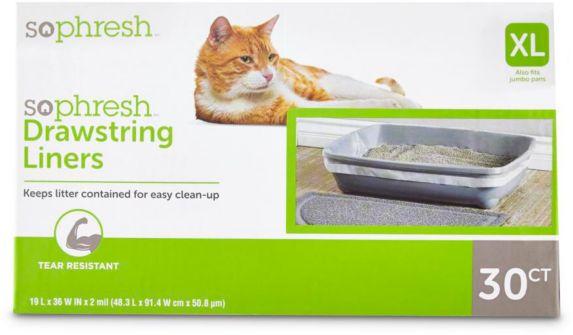 Doublure de litière pour chats Petco, très grand, paq. 30 Image de l'article