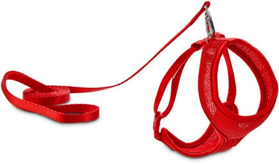 Petco Cat Mesh Harness & Lead Set, Red Product image