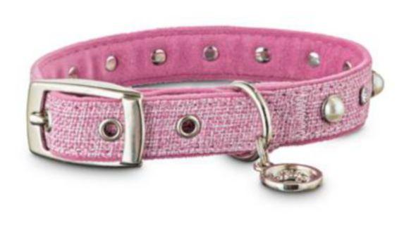 Petco Tweed Dog Collar, Pink, Small Product image