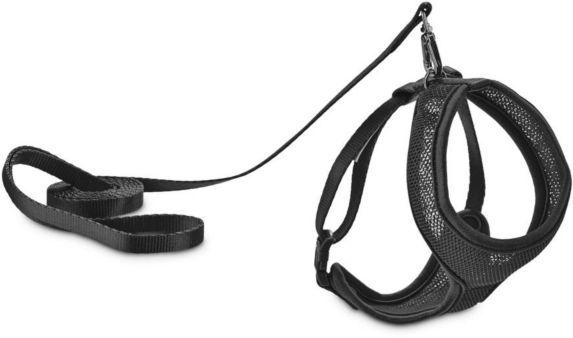 Petco Cat Mesh Harness & Lead Set, Black Product image