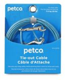 Petco Free to Flex Dog Tie-Out Cable, Blue, Small, 20-ft   PETCOnull